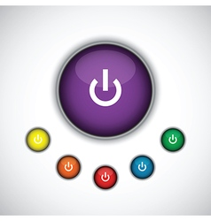 Purple on button vector