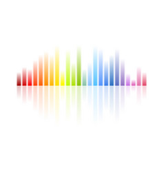 rainbow colors musical equalizer abstract vector image