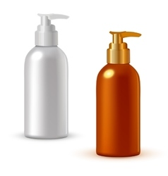 Realistic cosmetic bottle mock up set vector image vector image