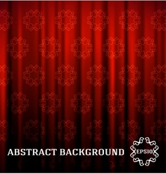 Red curtain with decor vector image