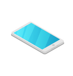 smartphone device isometric 3d icon vector image