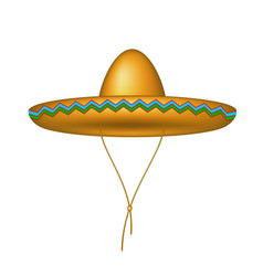 Sombrero hat in brown design vector