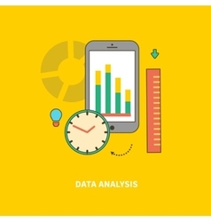 Stage of Business Process is Data analysis vector image vector image
