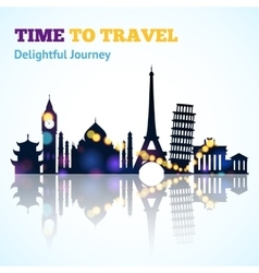 Travel Sight Silhouette vector image