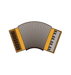 White background of accordion with thick contour vector