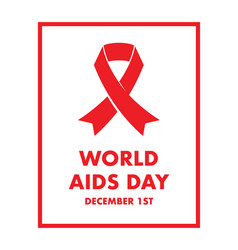 world aids day background vector image vector image
