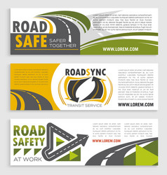 Road safety and transit service banner template vector