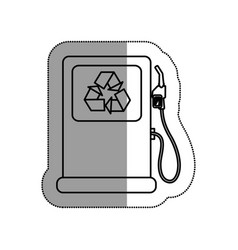 Station gas ecology icon vector