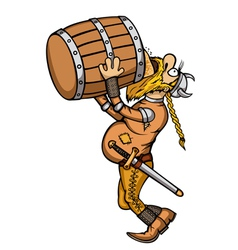 Viking drunk vector