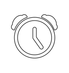 Clock alarm pictogram vector