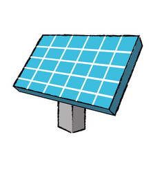 Solar energy element to ecologycal care vector
