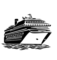 Big cruise liner vector