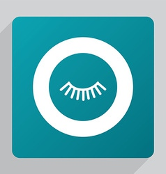Flat eyelash icon vector