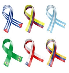 Flag ribbon vector