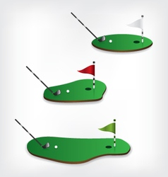 Golf course and stick vector