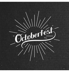 Octoberfest Holiday vector image