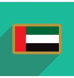 flat icon with long shadow Flag Arab Emirates vector image