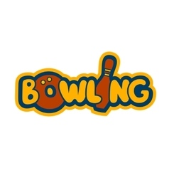 Bright bowling sign vector