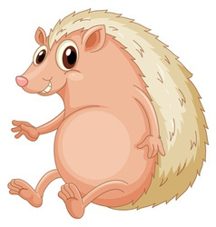 Hedgehog sitting vector image