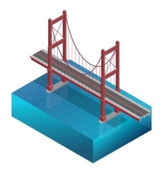 Bridge over the riverdesign unit structure vector