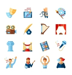 Art And Culture Icons Set vector image