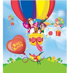 Birthday balloons vector image vector image
