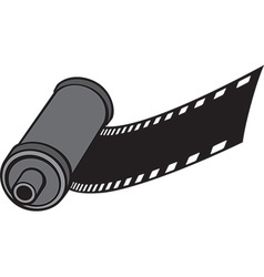 Camera Film Roll Icon vector image