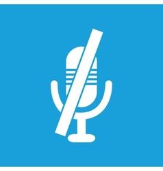 Crossed microphone symbol vector image