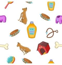 Doggy pattern cartoon style vector