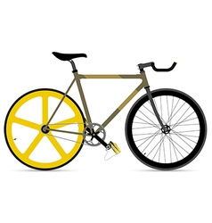 Fixed gear bicycle vector
