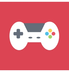 Flat design gamepad vector image