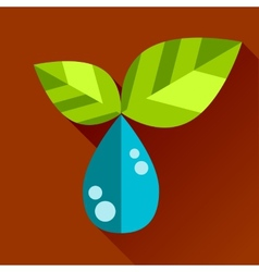 go eco green flat icon vector image vector image