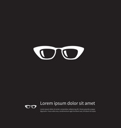 isolated sunglasses icon frame element can vector image