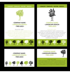 Landscape logo design concept vector