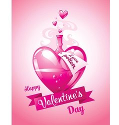 Love potion valentines day card vector