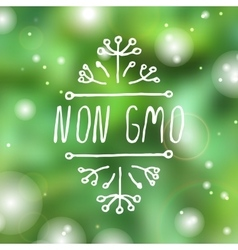 Non gmo - product label on white background vector