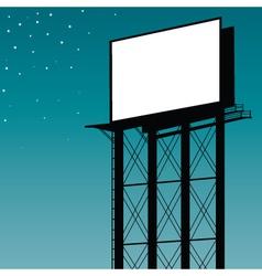 outdoor billboard vector image vector image
