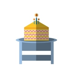 Party piece cake table icon image vector