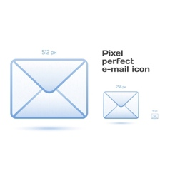 Pixel perfect email icons vector image vector image