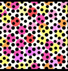 Polka dots seamless patterntextile ink brush vector