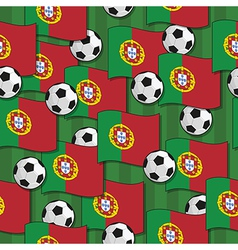 portugal football pattern vector image vector image