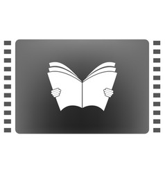 reading book icon vector image vector image