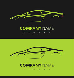 Sport car design card vector