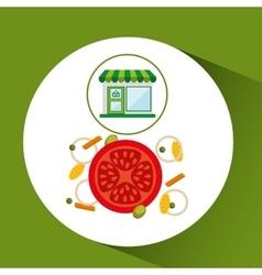 store fresh vegetables natural vector image