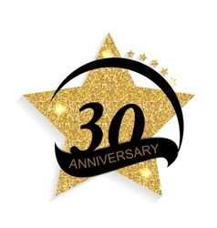 Template logo 30 anniversary vector