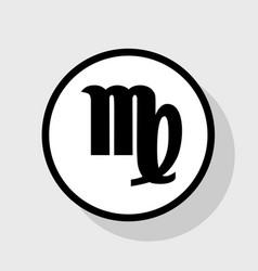 Virgo sign flat black icon vector