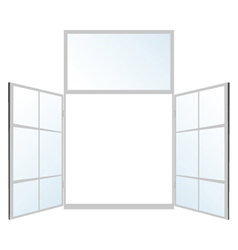 window in white color vector image