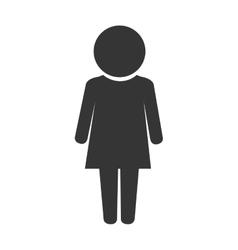 Women girl lady gender pictogram icon vector