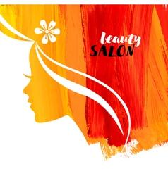 Acrylic beautiful girl of woman beauty salon vector image