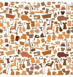 Shopping icons pattern with theme for sale vector